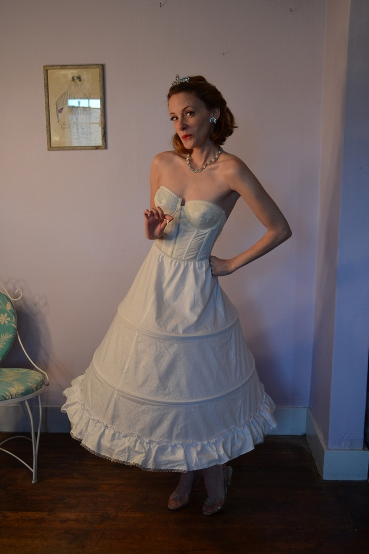RESERVED Vintage 1950s Tulle Wedding Dress Gown Corset ...