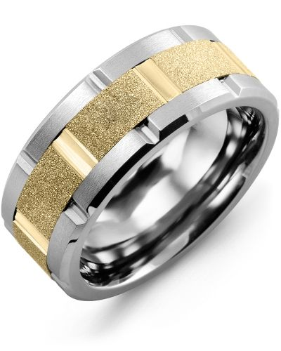 90e55ea33d7b3 Men's Laser Textured Grooved Wedding Ring in 2019 | Men's Wedding ...