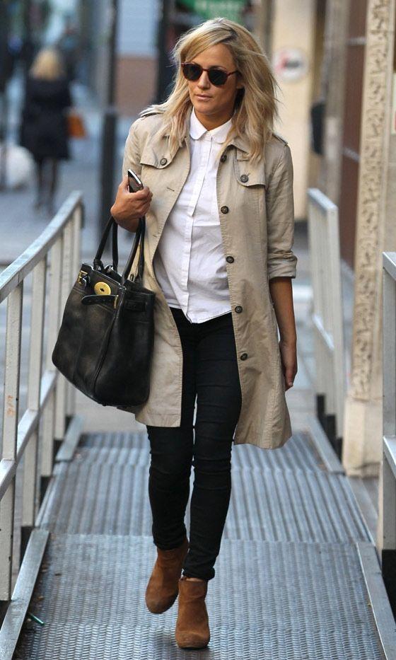 Caroline Flack Out In London, 2012