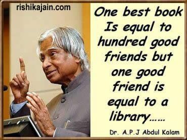 Dr. Abdul Kalam on friends and books. I love this!