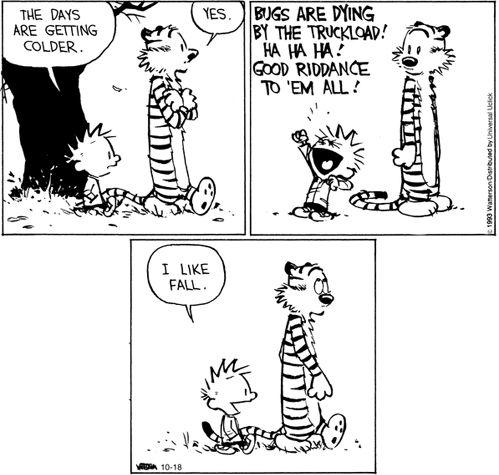Calvin & Hobbes: Die mosquitoes!