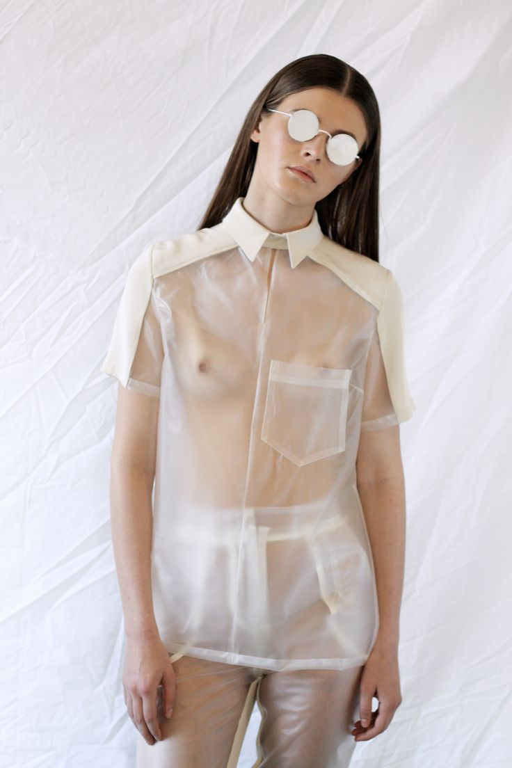 Claudia Ligari SS12 clear pvc shirt