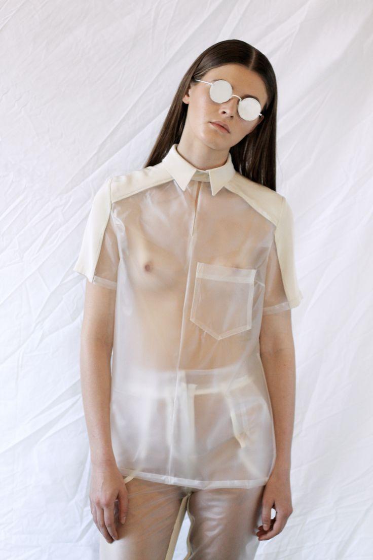 Claudia Ligari SS12 clear pvc shirt
