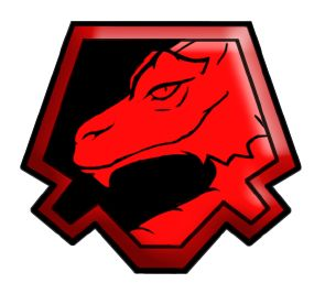 Sello Dragón rojo. nº1