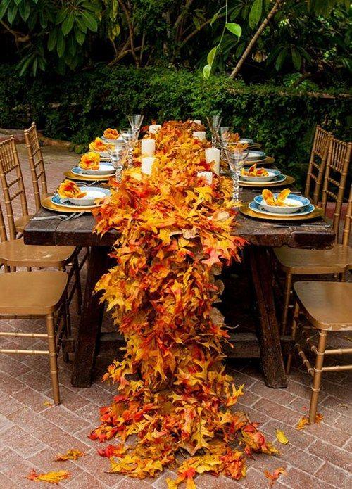 Fall Leaves Wedding Centerpieces / http://www.himisspuff.com/fall-wedding-ideas-themes/11/