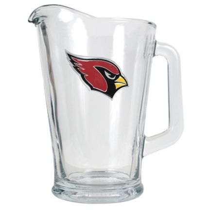 Arizona Cardinals 60 oz. Glass Pitcher: An officially NFL licensed 60oz glass pitcher decorated with a… #Sport #Football #Rugby #IceHockey