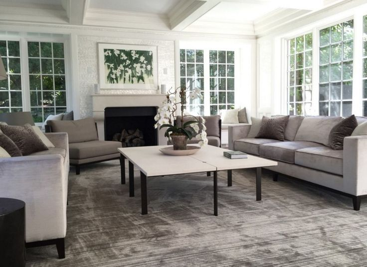 The Rug And Sofas In This Living Room Designed By Melissa Wyerick Look So  Luxe And
