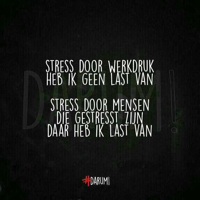 Stress door mensen die gestrest zijn!