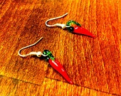 Glass Chilli Earrings