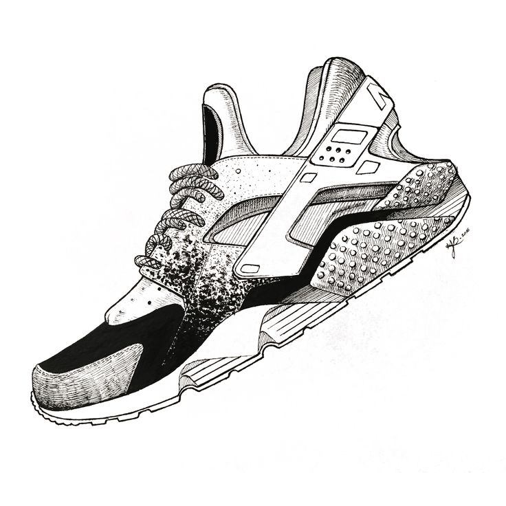 nike shoes drawings. yoonahbae.com sneaker illustration nike hurache shoes drawings