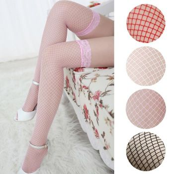 Womail Fashion Sexy Stockings Lingerie Woman Ladies Lace Fishnet Thigh High Stockings   Price: 2.60 USD