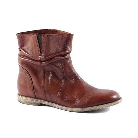 Ankle Boot  Upper: Leather  Colors: Brown, Tan, Soft Red