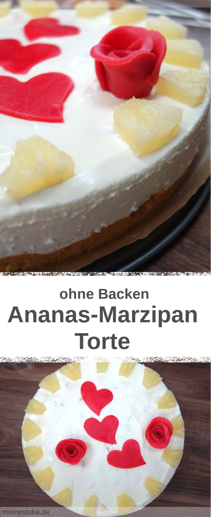 Ananas Marzipan Torte Ohne Backen Rezept Marzipan Torte Torten