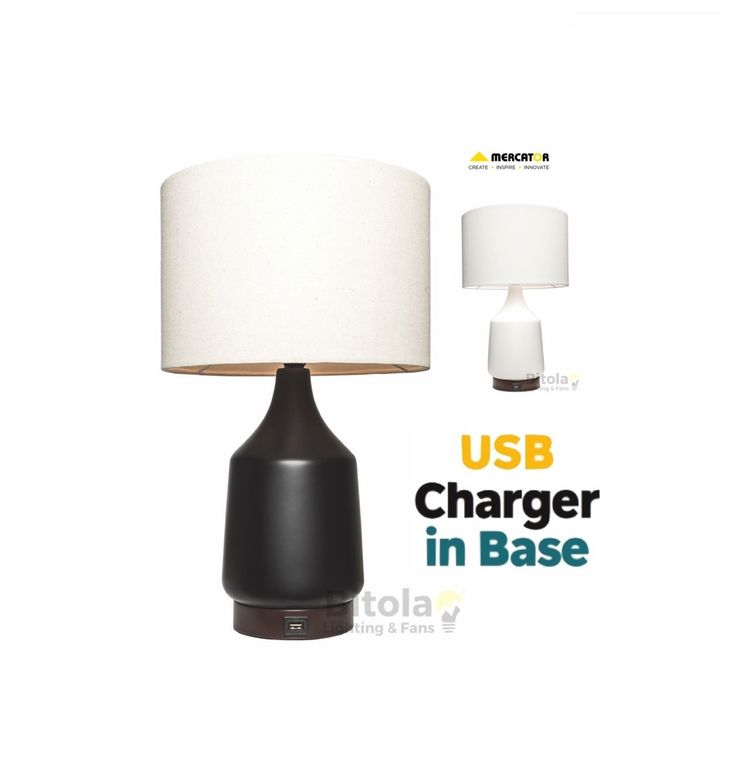 Santos+Table+Lamp+with+USB+Charging+Port+-+Mercator+A62711, $129.00