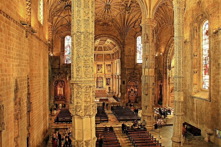 Monastery of Santa Maria de Belém, Lisbon, PortugalChristliche Häuserdetailskunst