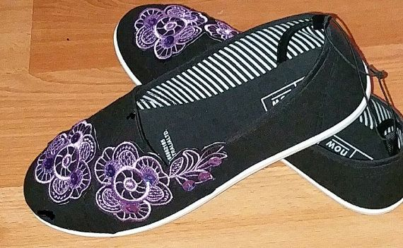 Beautiful Sequined Embroidered Ladies Shoes by Letzrock on Etsy