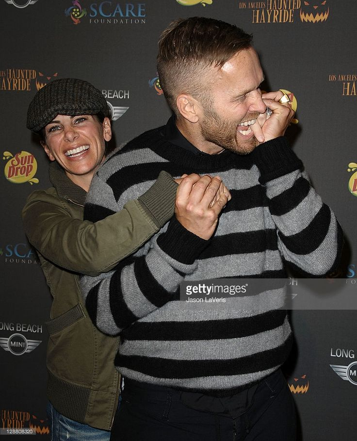 TV personalities Jillian Michaels and Bob Harper attend the 3rd annual Los Angeles Haunted Hayride VIP opening night at Griffith Park on October 9, 2011 in Los Angeles, California.