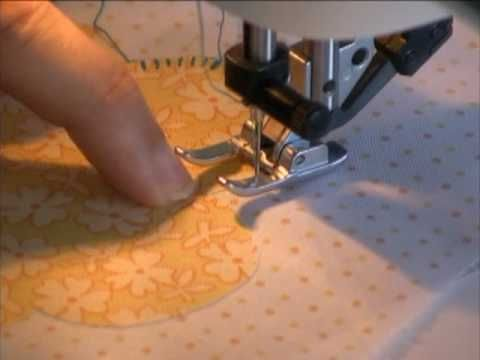 Join Karen Johnson as she demonstrates how to finish a raw or turned edge with a machine blanket or buttonhole stitch. To view the entire Applique series by ...
