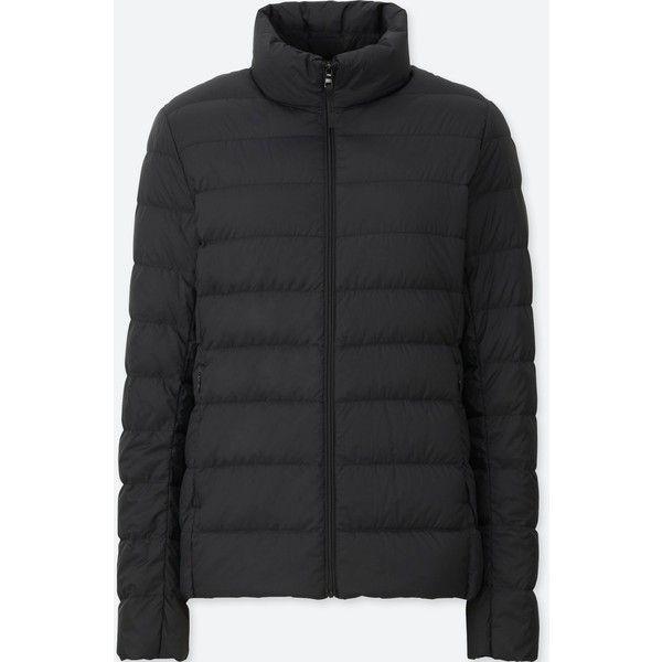 UNIQLO Women's Ultra Light Down Jacket ($60) via Polyvore featuring outerwear, jackets, black, down jacket, uniqlo jacket, slim jacket, slim fit jacket and uniqlo