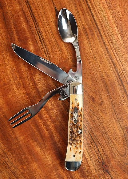 would love to get this as a gift; too bad my birthday isn't until mid-late summer. [W.R. Case & Sons Cutlery's Amber Bone HOBO Knife]