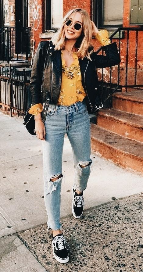 Outfits Ideas with Leather Jacket
