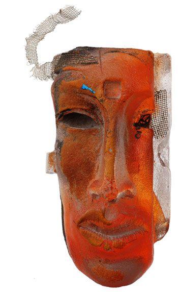Indian Glass sculpture by Claes Uvesten