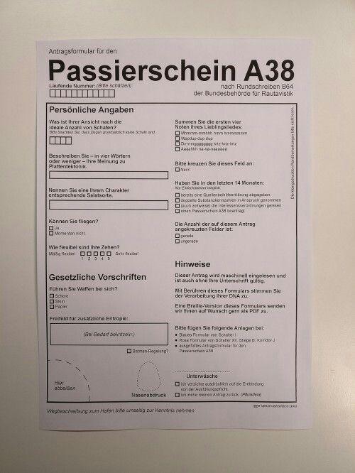 Passierschein A 38