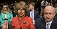 Image: Gabrielle Giffords adn Mark Kelly discuss gun violence in Wednesday's Senate Judiciary Committee meeting (© Brendan Smialowski / AFP - Getty Images)