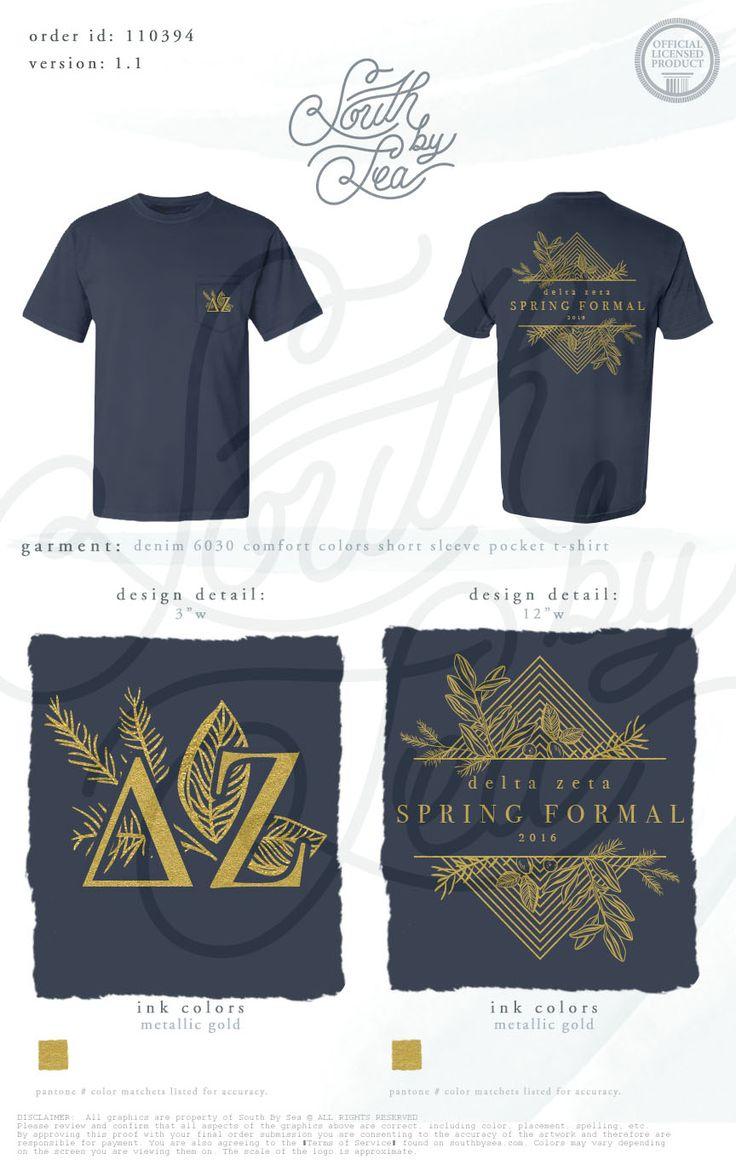 Design t shirt idea - Delta Zeta Dz Spring Formal T Shirt Design South By Sea