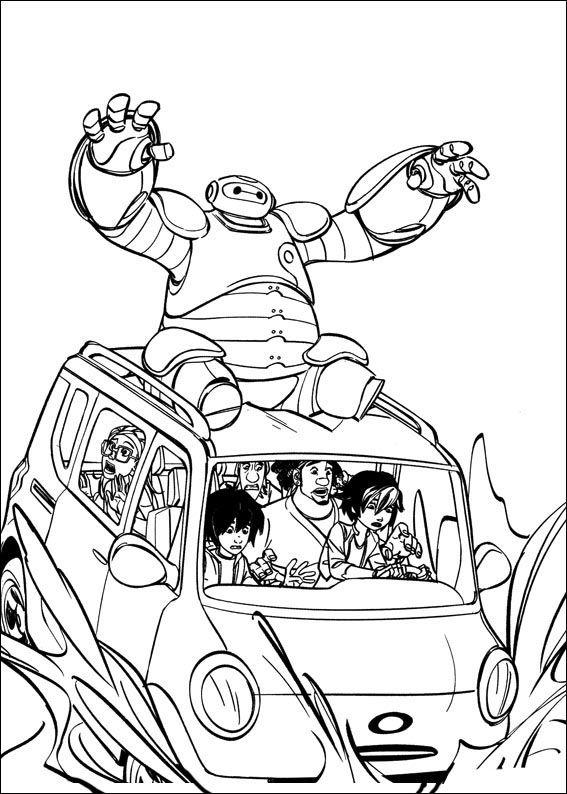Big Hero 6 28 Dibujos Faciles Para Dibujar Para Ninos Colorear Big Hero 6 Paginas Para Colorear Dibujos