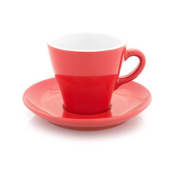 Inker red cappuccino cup 6 oz tulip shape
