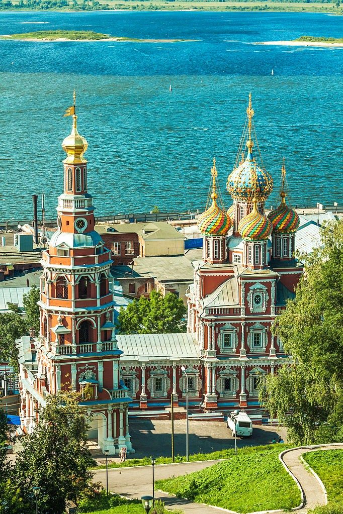 Russia, Nizhny Novgorod, the 5th largest city. Cathedral Church of the Blessed Virgin Mary, founded in 1696, a cultural heritage object.