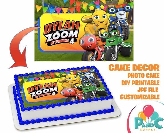 Important This Item Is 100 Digital You Will Not Receive Physical Items With Your Purchase Ricky Zoom Topper Cake C Cake Toppers Disney Party Cake Sizes