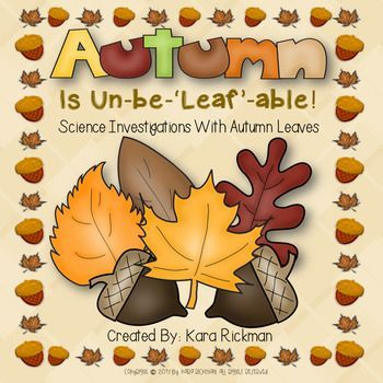 If you LOVE teaching your science curriculum through experiments and investigations, then this resource is for you! Your students will be engaged in fun and purposeful activities and will learn about autumn attributes and how leaves change color. This resource includes lesson plans, interactive notebooks, vocabulary cards, an autumn tree craftivity and writing templates.