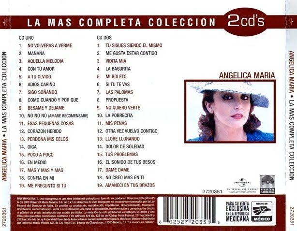 Catálogo Musical Artistas Latinos y Música Instrumental Discos De Colección: Angélica María