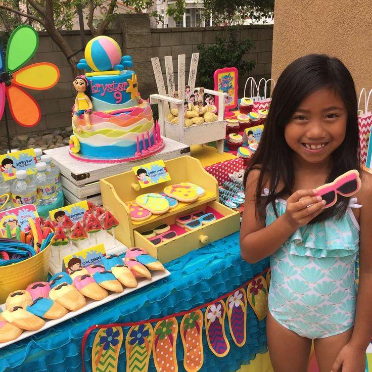 year birthday invitatiowordingiindiastyle%0A Kryster u    s Swimming Summer Birthday Party   CatchMyParty com