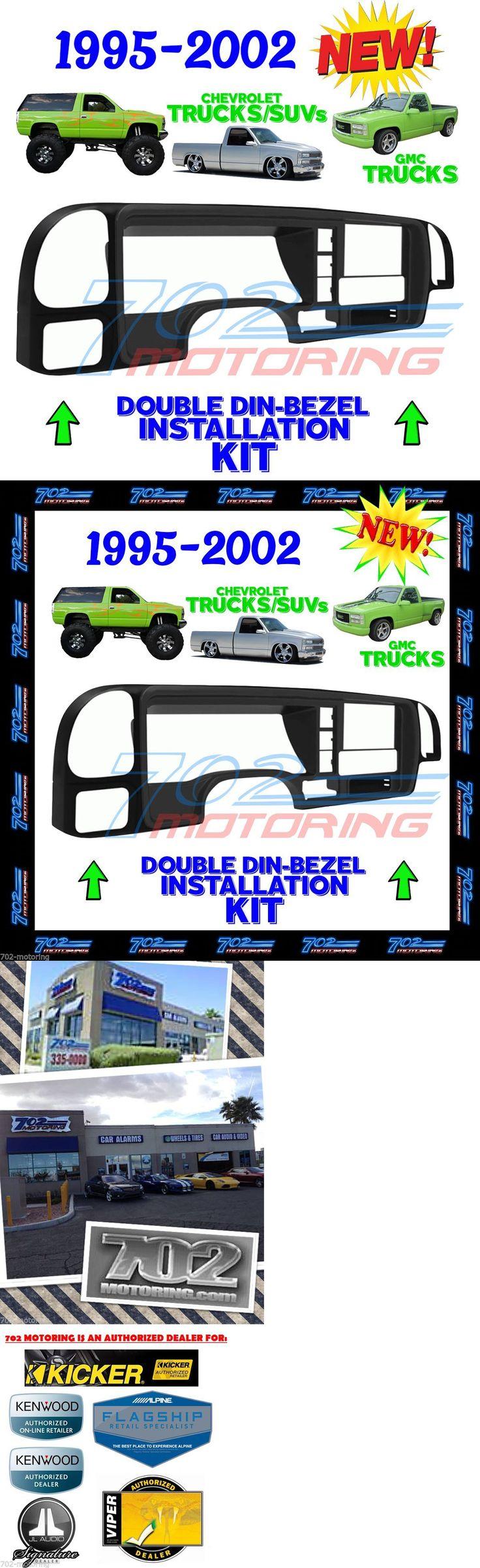 Dashboard Installation Kits: 1995 -2002 Silverado Gmc Sierra Car Stereo Radio Double Din Install Dash Kit -> BUY IT NOW ONLY: $158.88 on eBay!