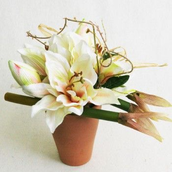 51 best images about compositions florales artificielles for Amaryllis de noel
