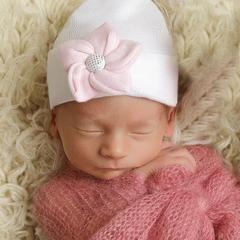 b11c3f7c9ef Sea Flower White Sparkles Newborn Girl Hospital Hat icon