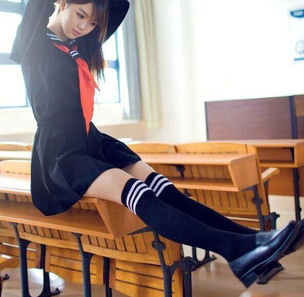 Japanese Kawaii School Uniform Long-Sleeved Shirt/Skirt [SET]