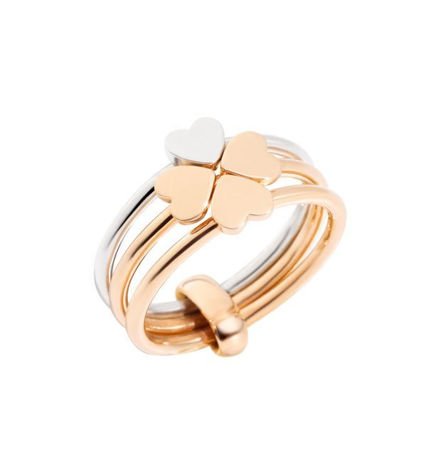 Lucky In Love Ring - 9 Kt Rose Gold, Silver - Dodo | Official Online Store
