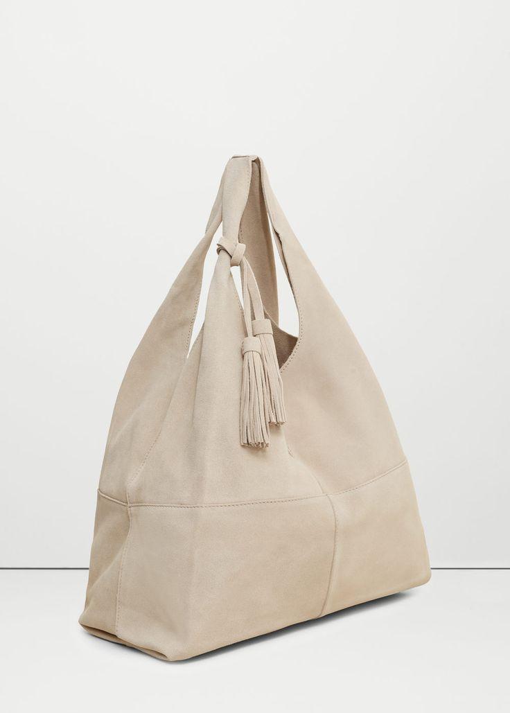 Leather hobo bag - Bags for Women | MANGO USA