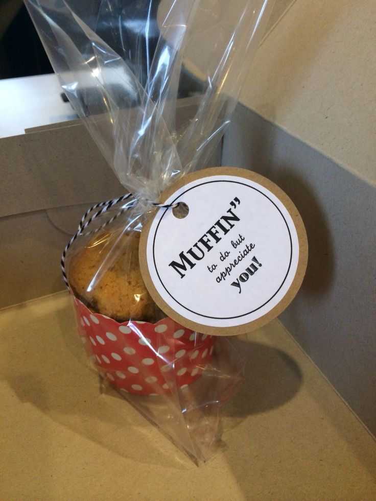Employee appreciation gifts w/ vegan pumpkin muffins