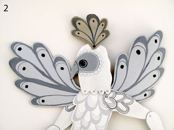 White Birdman Dancing Articulated / Hinged Beasts Series