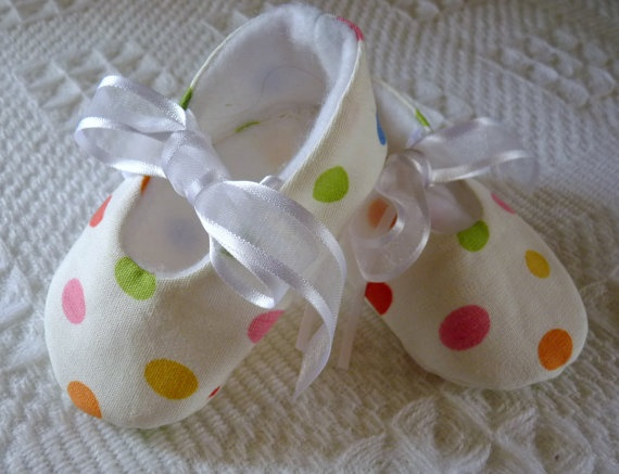 Jelly Beans Soft Baby Shoes by cottagecloset on Etsy, $22.00