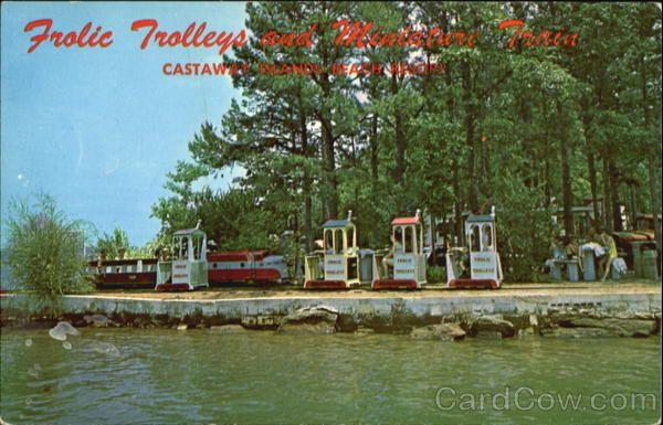 Frolic Trolleys and Miniature Train, Castaway Islands Beach Resort Eclectic Alabama