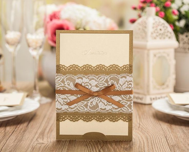 rustic wedding invitation 14 best laser cut gold wedding invites images on 7217