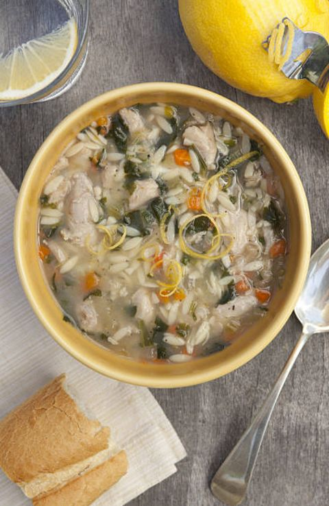 #vegan lemon orzo soup