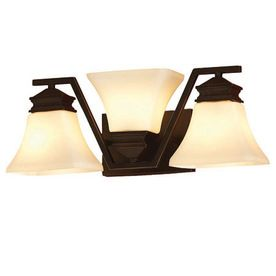 This is one cool light fixture! allen   roth�3-Light Oil-Rubbed Bronze Bathroom Vanity Light $59