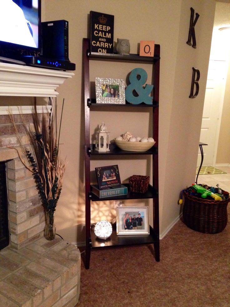 ladder shelf decor DIY ; home decor